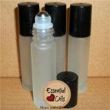 rullo blu glassato 10ml sulla bottiglia di olio con la protezione d'argento