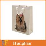 China billig glatt/Matt-Laminierung-Papierbeutel mit Haustier-Bild