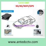 高品質レコーダーGPS追跡3G/4G/GPS WiFiが付いている2/4のチャネルSDのカード車のビデオ監視サーベイランス制度