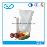 Sac en plastique de empaquetage clair de nourriture sur le roulis