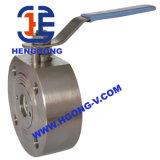 La bride de traitement de DIN/API a modifié le robinet à tournant sphérique d'acier inoxydable de disque