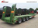 трейлера затяжелителя 3axles 50-70ton трейлер палубы низкого низкий