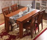 Tabela de jantar da cinza do projeto moderno e jogo de madeira da cadeira