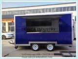 Vrachtwagen van het Snelle Voedsel van de Straat van de Aanhangwagen van de Doos van de Diepvriezer van de koude Zaal de Mobiele