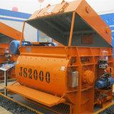 (JS2000) Mezclador concreto para la venta, maquinaria del eje gemelo del mezclador concreto