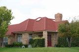 Tuile de toiture enduite en métal de pierre colorée pour la villa