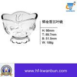 Saladier de cuvette de crême glacée de cuvette en verre de qualité Kb-Hn0207