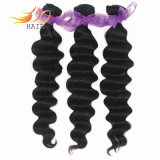 卸し売りモンゴルのバージンのRemyの毛の拡張自然なカラー人間の毛髪の織り方