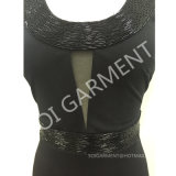 Neuer Art-Sommerknit-dünnes Form-Kleid mit Raupe (DR-31)