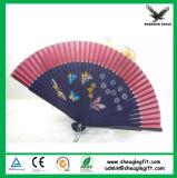 Faveur pliable de promotion de panneau de ventilateur espagnol en bois de main