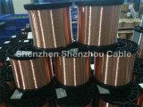 Fil en aluminium plaqué de cuivre de Ccaa de fil de CCA pour le câble