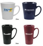 石器のコーヒー・マグ、Latteのマグ、コーヒー・マグ
