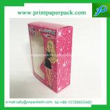 Cadre de papier de empaquetage de luxe de Quakeproof de parfum avec le guichet de PVC