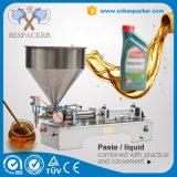 Máquina de rellenar del aceite de oliva de la máquina de rellenar de bolso de la lijadora de la leche pequeña