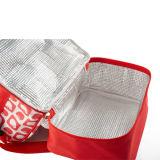 Sacs plus frais isolés rouges avec des extracteurs de tirette de glaçon