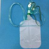 Dell'ospedale del Portable maschera di ossigeno di Rebreather non con il tubo (verde)