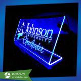 Étalage acrylique de signe de la L-Forme DEL, stand acrylique de menu de DEL
