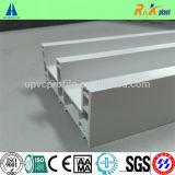 Anti profil UV de cadre de porte de PVC de 3 pistes