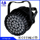 Envío Rápido Super Bright LED PAR RGB 7PCS 5 en 1 Slimpar LED Etapa de lavado de iluminación para las partes del concierto de boda DJ