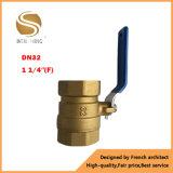 """1/4 """" - robinet à tournant sphérique en laiton actionné par traitement d'amorçage de 2 """" Bsp"""