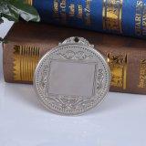 A inserção de prata feita sob encomenda da foto da liga do zinco da fábrica ostenta medalhas