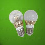 lumière d'ampoule en aluminium de coulage sous pression d'or de 3W DEL