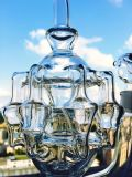 Wasser-Rohr des 7mm Befestigungsklammer-Bienenwabehb-König-Glass Smoking
