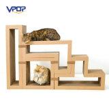 Chat modulaire de constructeur d'usine rayant le chat Scratcher de carton de blocs