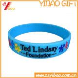 Изготовленный на заказ цветастые браслет/Wristband силикона для подарков промотирования