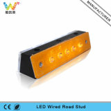 Tunnel Road Plastic Wired Yellow White LED Road Stud