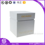 Folha de ouro branco Handmade luxuosa de Squre da caixa de papel