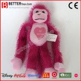Mono del juguete del animal relleno de la tarjeta del día de San Valentín del precio bajo