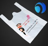 Sacchetto di plastica su ordinazione all'ingrosso della maglietta di acquisto HDPE/LDPE