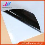 Schwarzer Kleber-selbstklebendes Mattvinyl für Drucken-Material