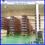 Mecanismo impulsor de la paleta en el estante para el almacén de almacenaje