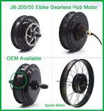 Motor del eje de rueda de bicicleta del engranaje de la parte posterior de la potencia estupenda de Czjb Jb-205-55 Ebike