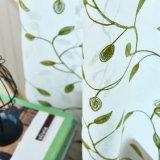 예쁜 디자인 녹색 잎 자카드 직물 정전 창 커튼 (06F0030)