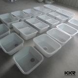 Kkrの正方形の単一ボールの固体表面の台所Undermountの流し