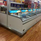 Tipo congelador del pecho del congelador de la visualización de la combinación del supermercado del congelador de la isla