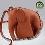 Elefant-Art-reale lederne nette Schulter-Beutel-Minigrößen-Handtaschen-Tierkupplungs-Beutel-Münzen-Fonds Emg5070