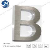 Soldagem por laser Letras decorativas metálicas Letras de aço inoxidável escovado