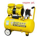 bomba sin aceite portable sin aceite del compresor de aire de 30L 550W mini