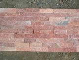 La pietra arrugginita calda copre di tegoli il rivestimento culturale della parete del pavimento dell'ardesia di Ledgestone