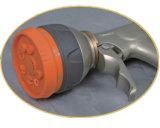 """1/2 """" 금속 정원 스프레이어 8 패턴 조정가능한 아연 물분사 전자총"""