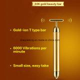 equipo eléctrico facial de la belleza de la piel de la barra de la belleza de la barra de la belleza 24k