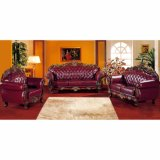 Sofá de cuero clásico para los muebles de la sala de estar (929S)