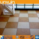 Azulejo de suelo de mármol semi mate del vinilo del PVC de la cáscara y del palillo