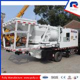 Pompe montée par camion mobile de mélangeur concret avec Bacher et châssis
