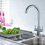 Double taraud de mélangeur de l'eau de traitement pour le bassin de cuisine
