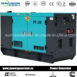 60Hz tipo fijo conjunto de generador de 30kVA con recinto